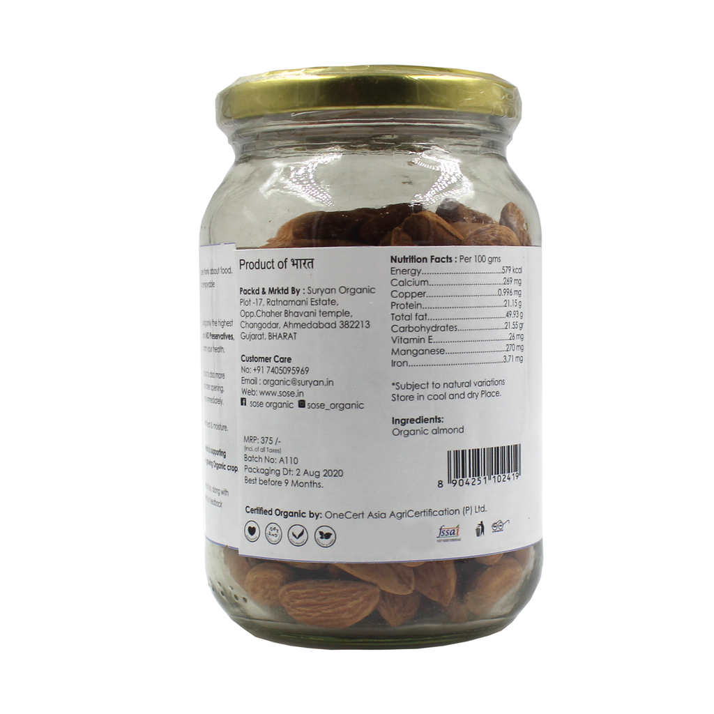 SO GOOD Organic Almond 250gm