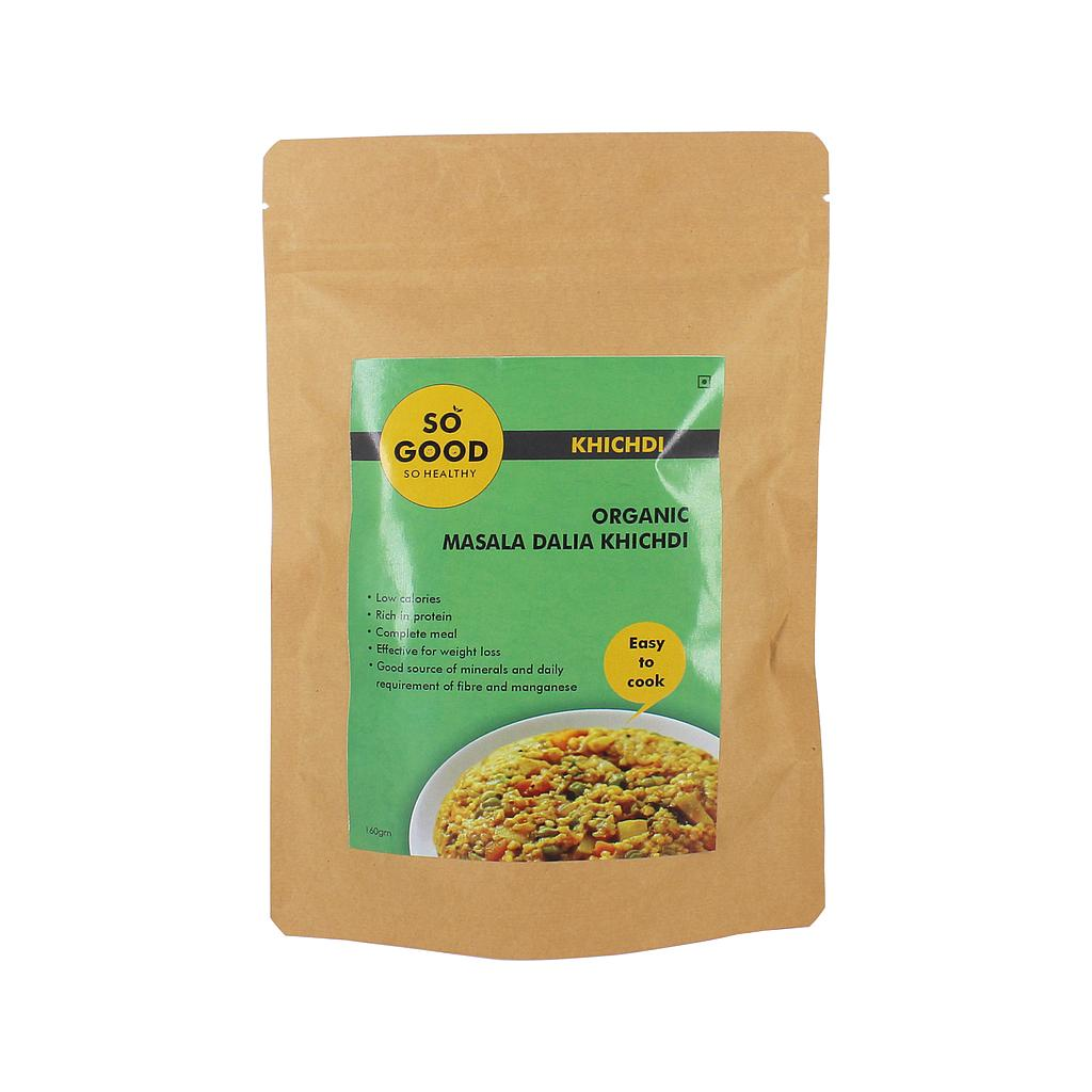 SO GOOD Organic Masala Dalia Khichdi 160gm