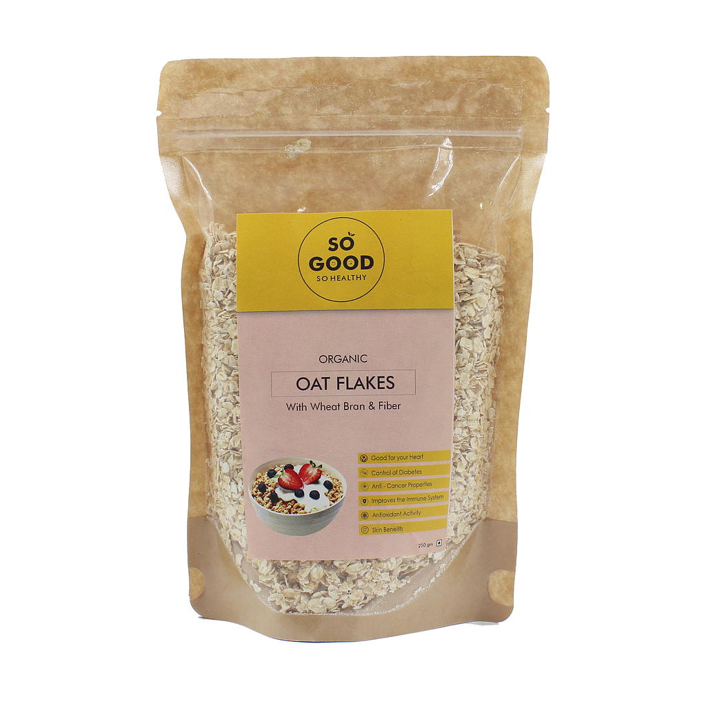 SO GOOD Organic Oat Flakes 250gm
