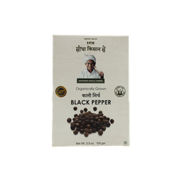 Sidha Kisan Se Organic Black Pepper Whole (Kali Mirch) 100gm